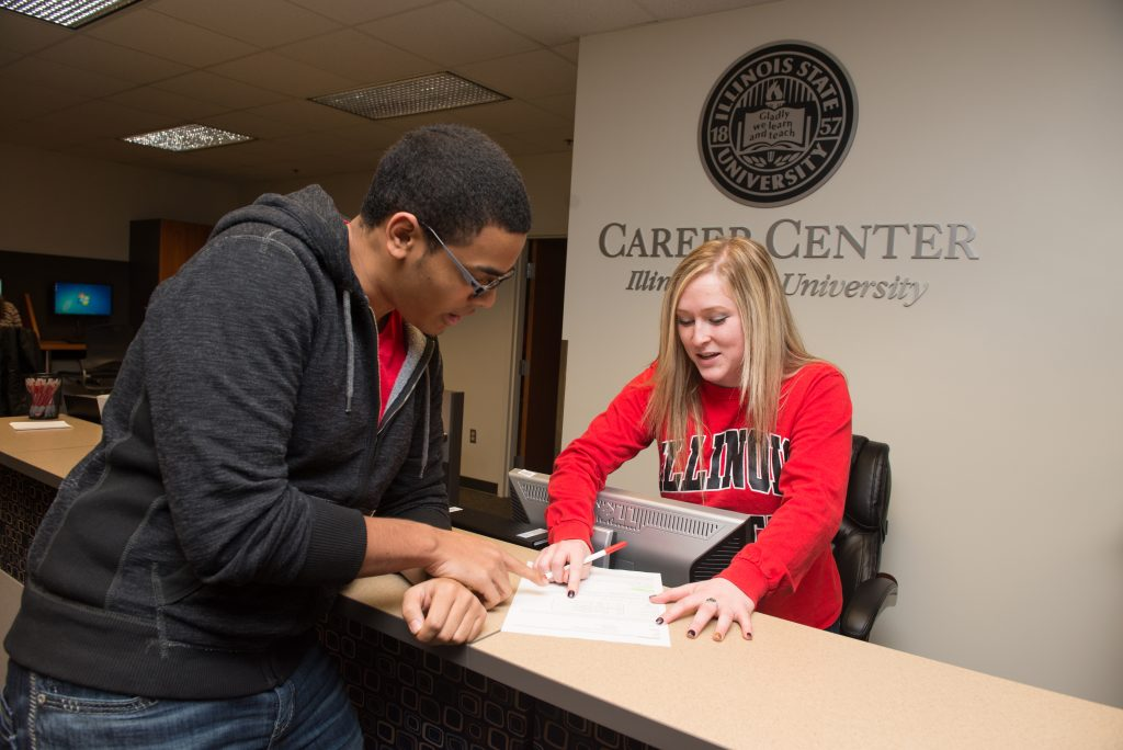 Illinois State student receives help at Career Center