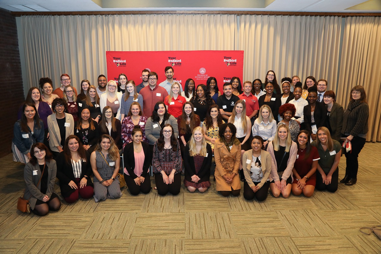 Student leaders and employees at the 2019 Student Affairs' Graduation Celebration.