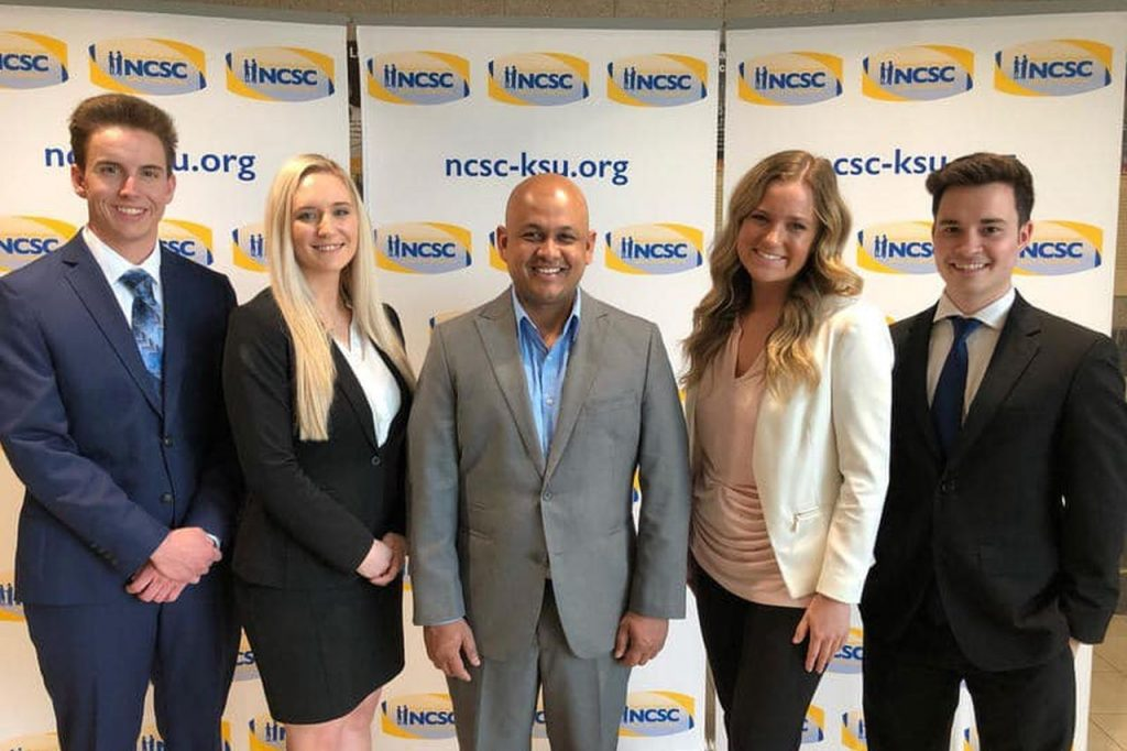 Competitors at National Sales Competition