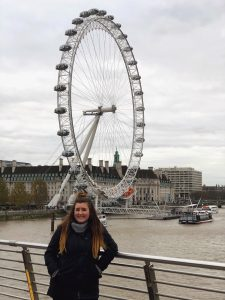 Hannah Lehmann on tour during her study abroad experience