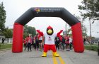 Reggie Redbird at the start line of the Homecoming 5K in 2018