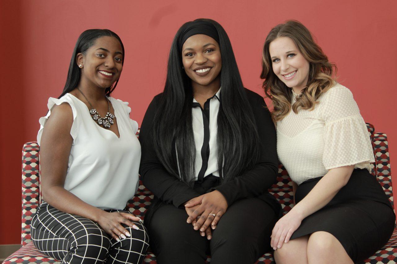 Left to right: Jada Turner, Samiat Solebo, Hannah Woody