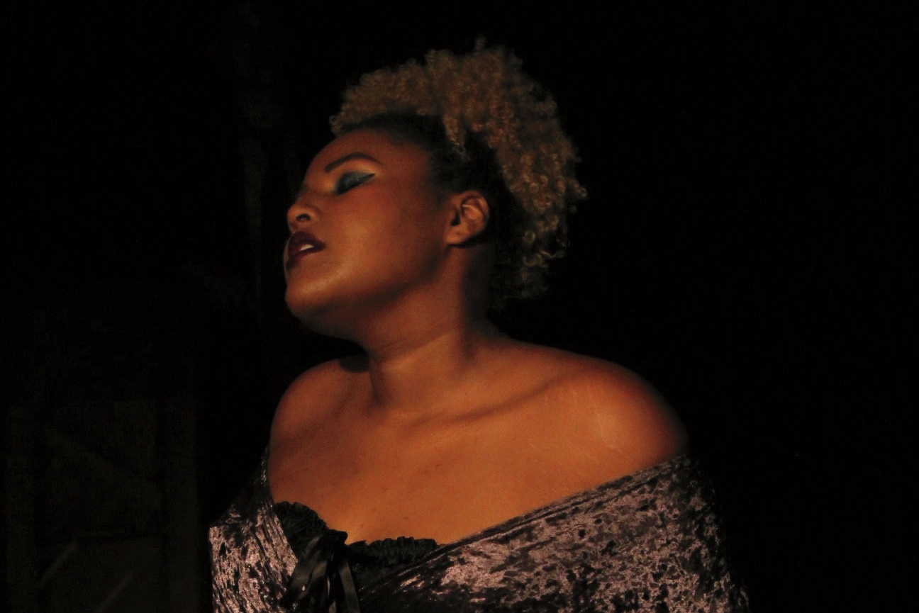 Daija Nealy performing in Cabaret: A Night to Remember at Illinois State.