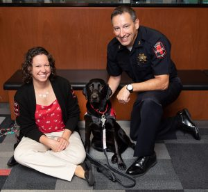 Sage with Chief Woodruff and Laura Fox