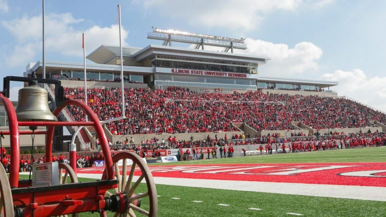 a photo of the stands full of fans at Hancock Stadium