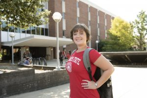 Sarah Sanders on campus