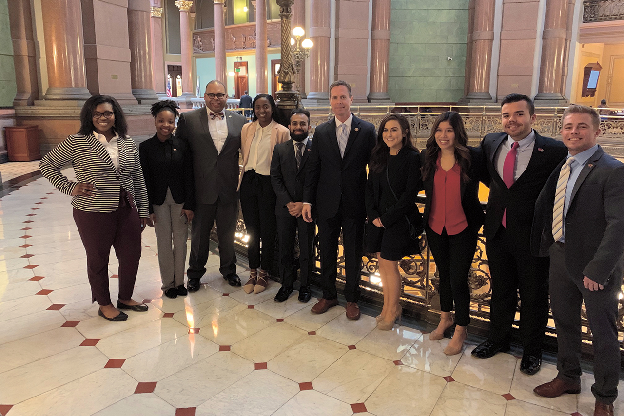 Redbirds visited Springfield to advocate for higher education.