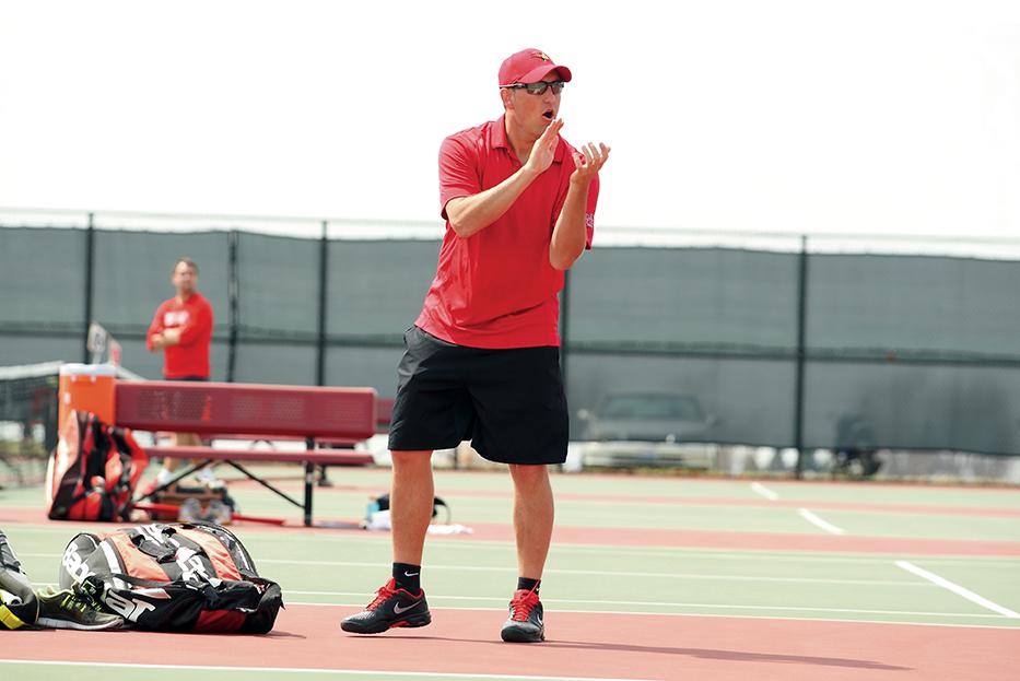 Redbird tennis coach Mark Klysner