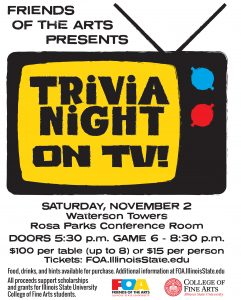 Flyer for Friends of the Arts Trivia Night