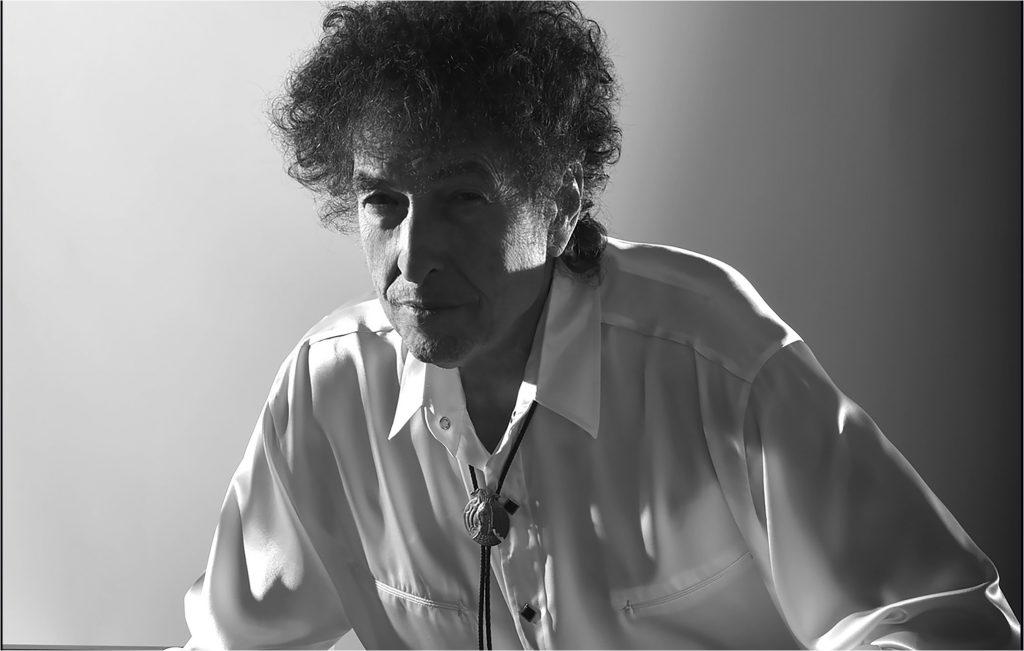 headshot of Bob Dylan