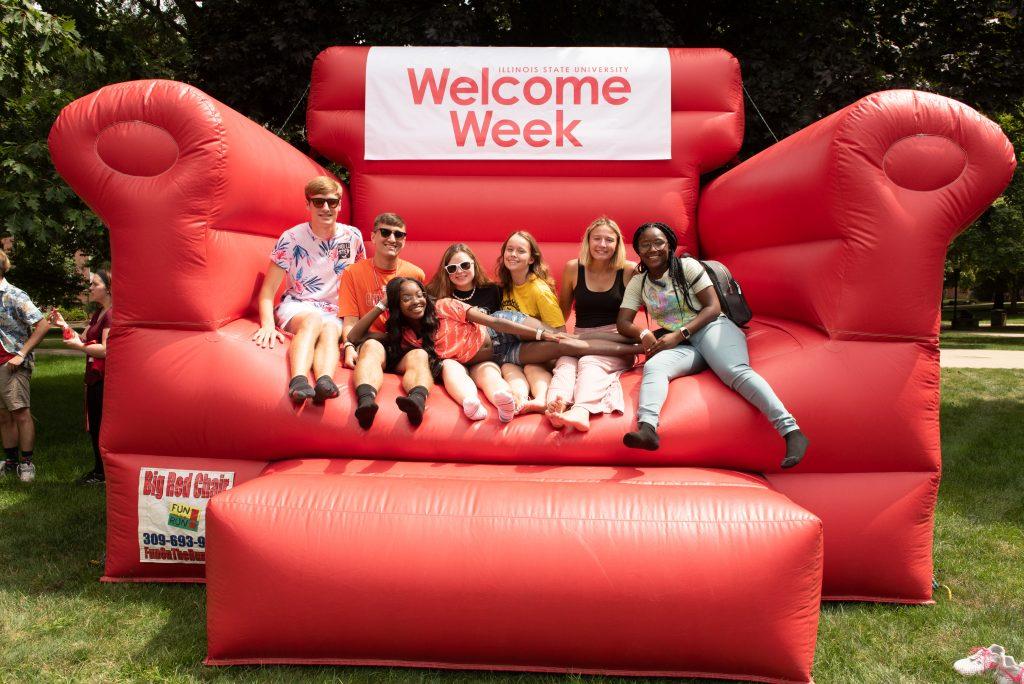 Students having fun at Welcome Week.