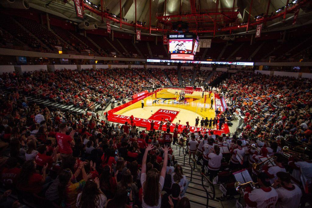 Fans cheer on Redbirds at Redbird Arena
