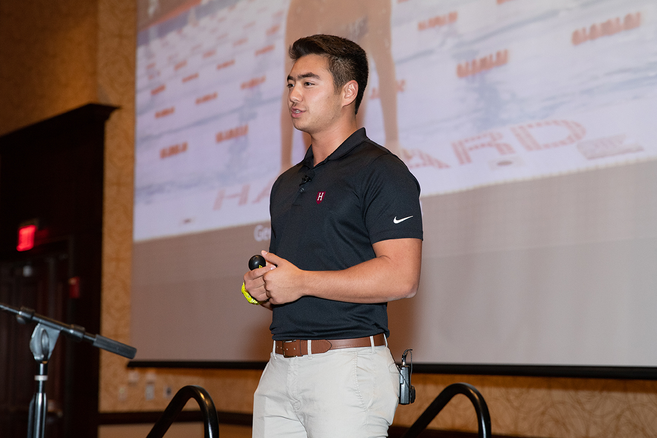 Schuyler Bailar spoke about the challenges he overcame and what he had to give up to become a barrier-breaking NCAA Division I swimmer.