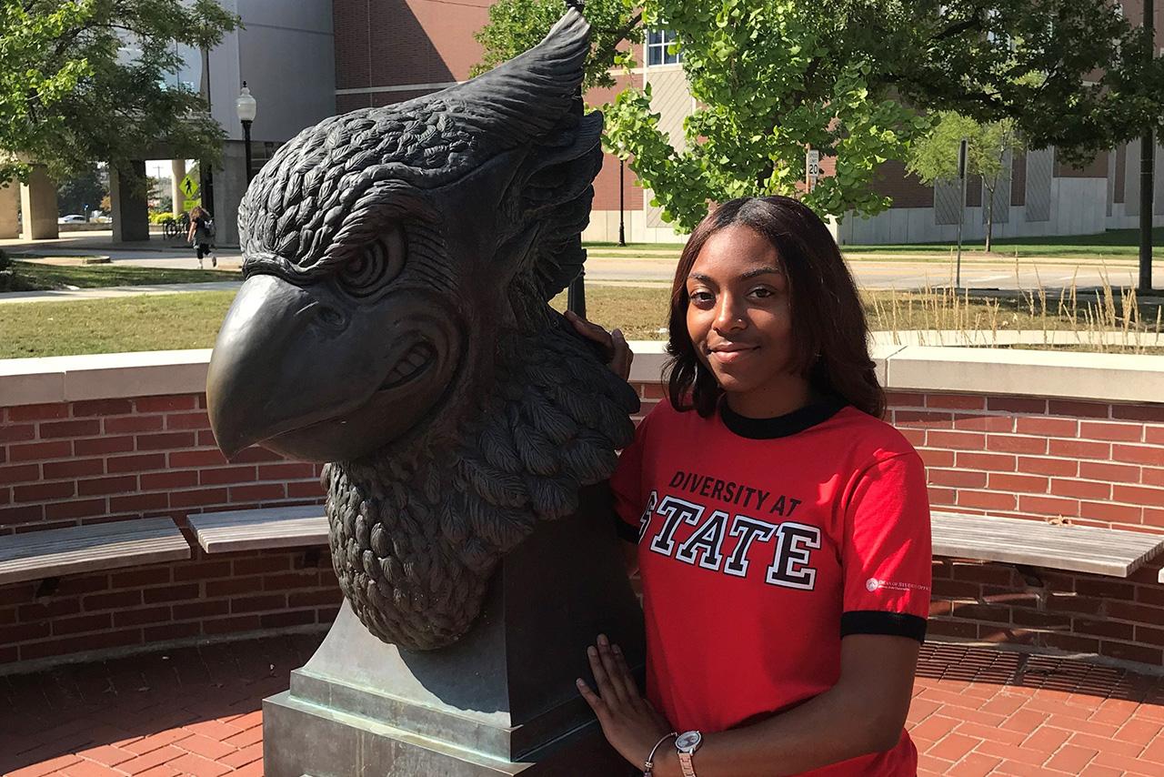ISU student Dajha White