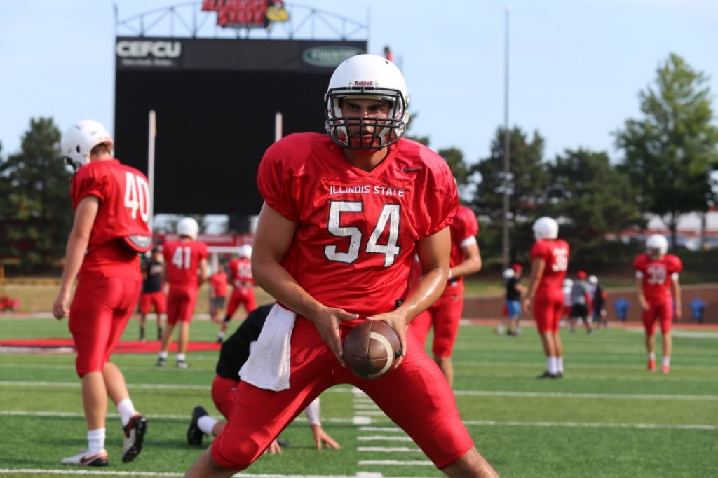 Redbird football player Paul Monaco.