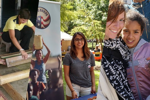 images of people and Peace Corps