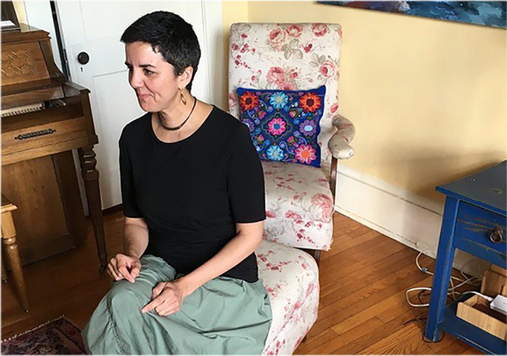Carmen Giménez Smith seated