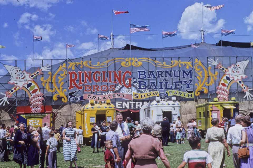 1953 circus entrance