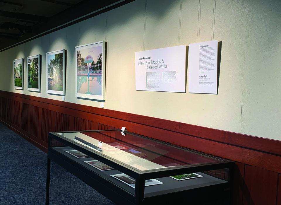 Art exhibit in Milner Library
