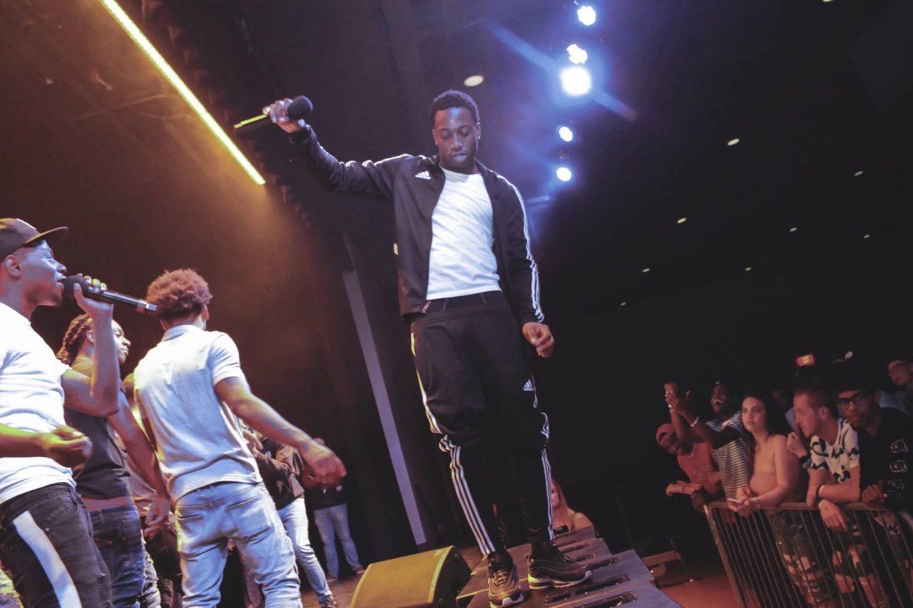 Headlining act LGado performs at Basement Bars concert