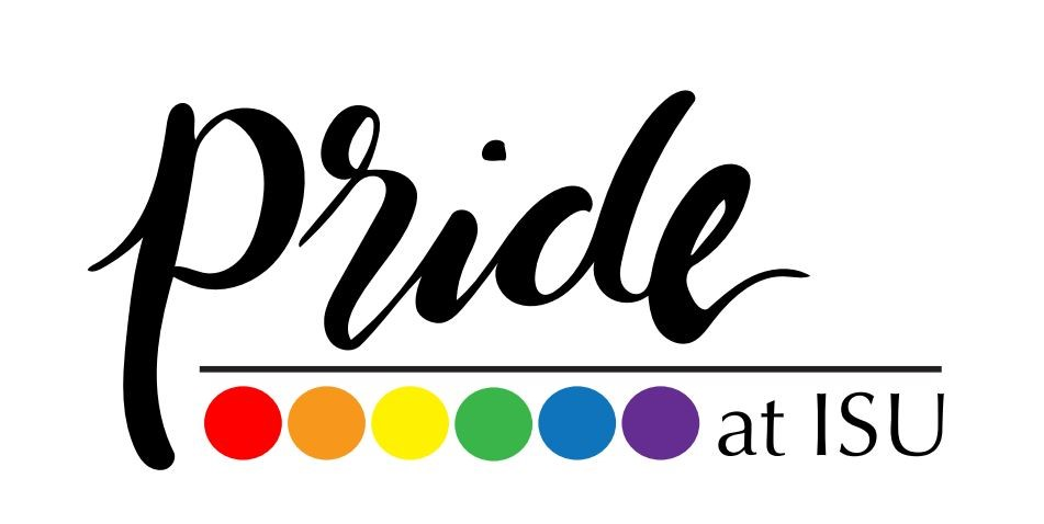 Logo for ISU Pride with the words Pride at ISU.
