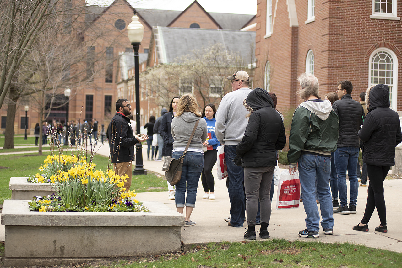 Campus tour guides are on the front line of recruitment at Illinois State.