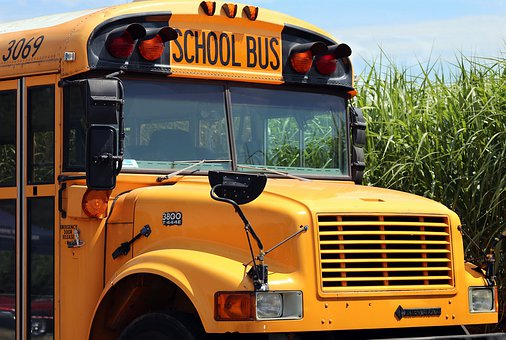 Photo of a yellow school bus