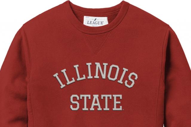 Red Illinois State Crew Sweatshirt