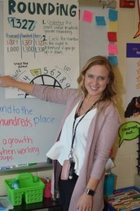 ISU special education student teaches in her classroom.
