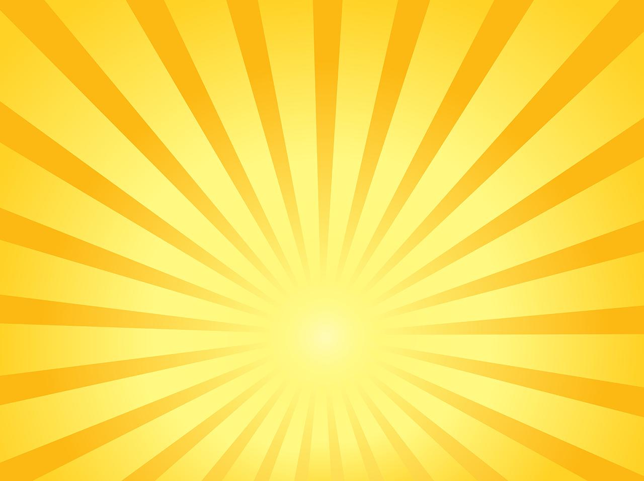 Drawn sun beams