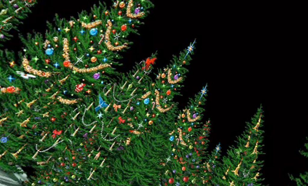 illustrated Christmas trees