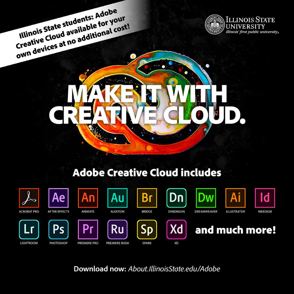 logos of Adobe Creative Cloud with the words Make it with Creative Cloud