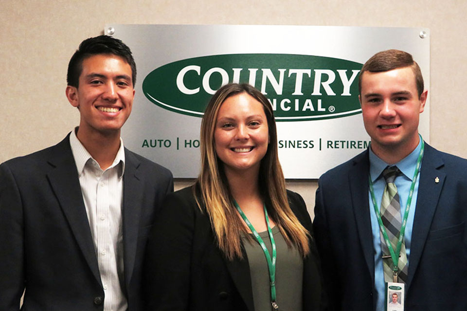 Three students explore theri careers through Country internship