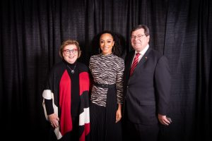 Angela Rye had kind words for Illinois President Larry Dietz and his wife, Marline, during her speech.
