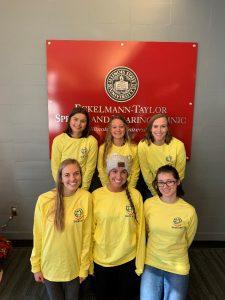 The Operation Smile at ISU executive board: Grace Watson (back, left), Ashleigh Tira, Carly Cheatham, Kathryn Judy (front, left), Hannah McGivney, and Natalia Haberny.