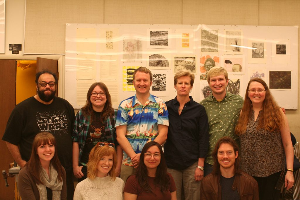 Students, Faculty, and Staff members of Normal Editions Workshop, Spring 2017