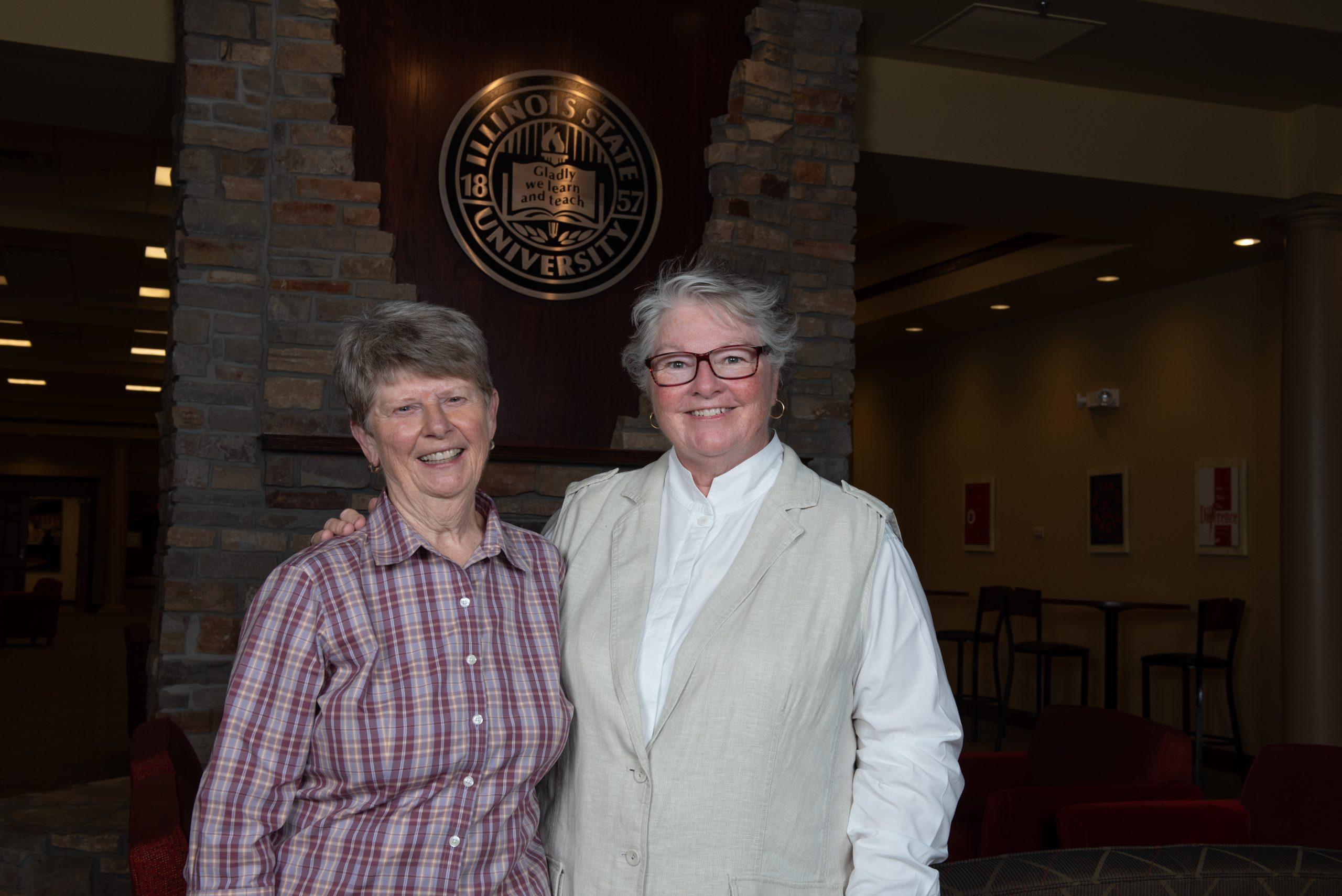 Left: Sandy Groves, Right: Diane Dahlmann M.S. '77
