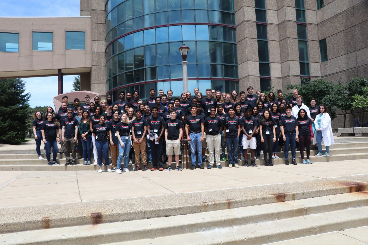 Group of Student all wearing CeMaST t-shirts