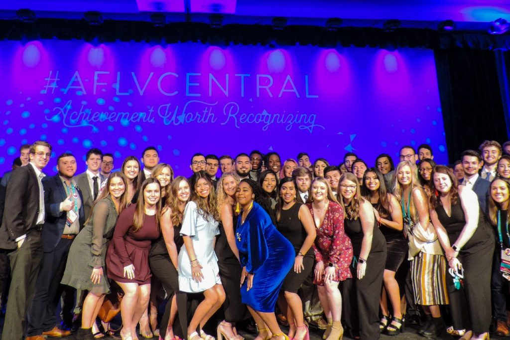 Student leaders at AFLV conference