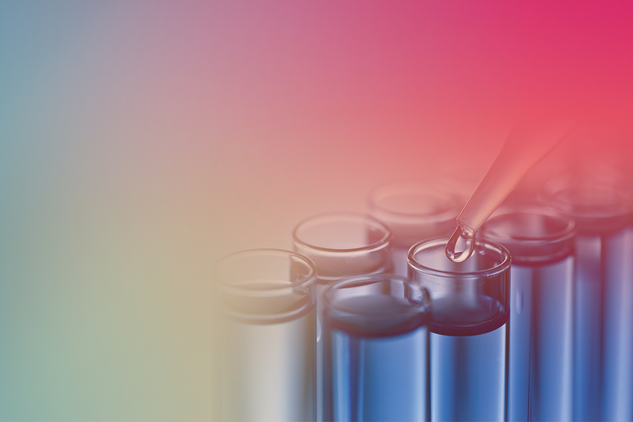 Colored photo of test tubes