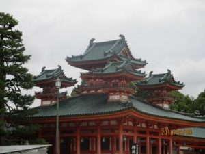 A view of the Heian Shrine in Kyoto.