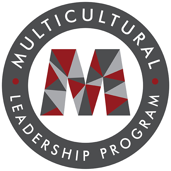 M with the words Multicultural Leadership Program in a circle
