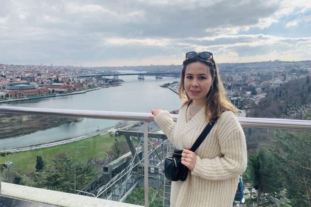Nargiza Yusupova taking posing for a photo in Ankara, Turkey