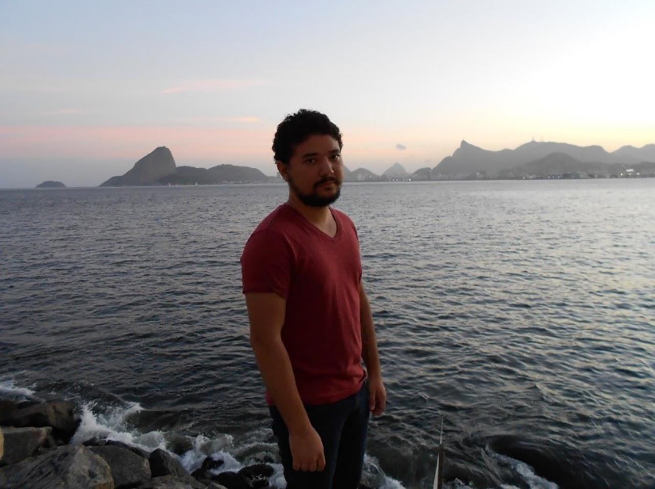 Scholarship recipient Cadu Verdan near his home in Rio de Janeiro, Brazil.