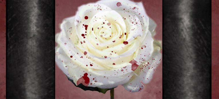 bloody rose behind bars