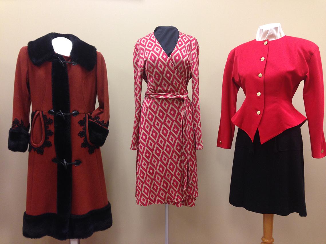 Three garments on exhibit