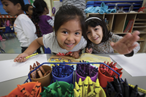 Children at the Illinois Art Station