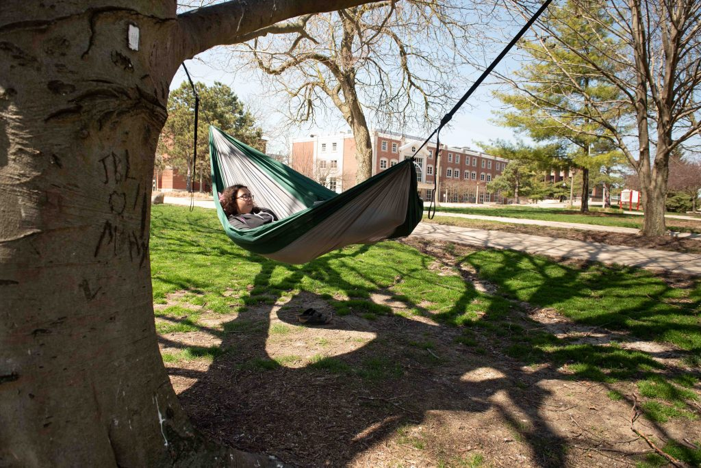 Woman on a hammock