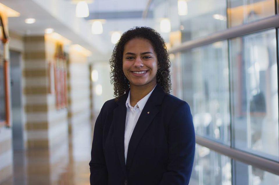 Amina Jinadu, a senior majoring in communication studies