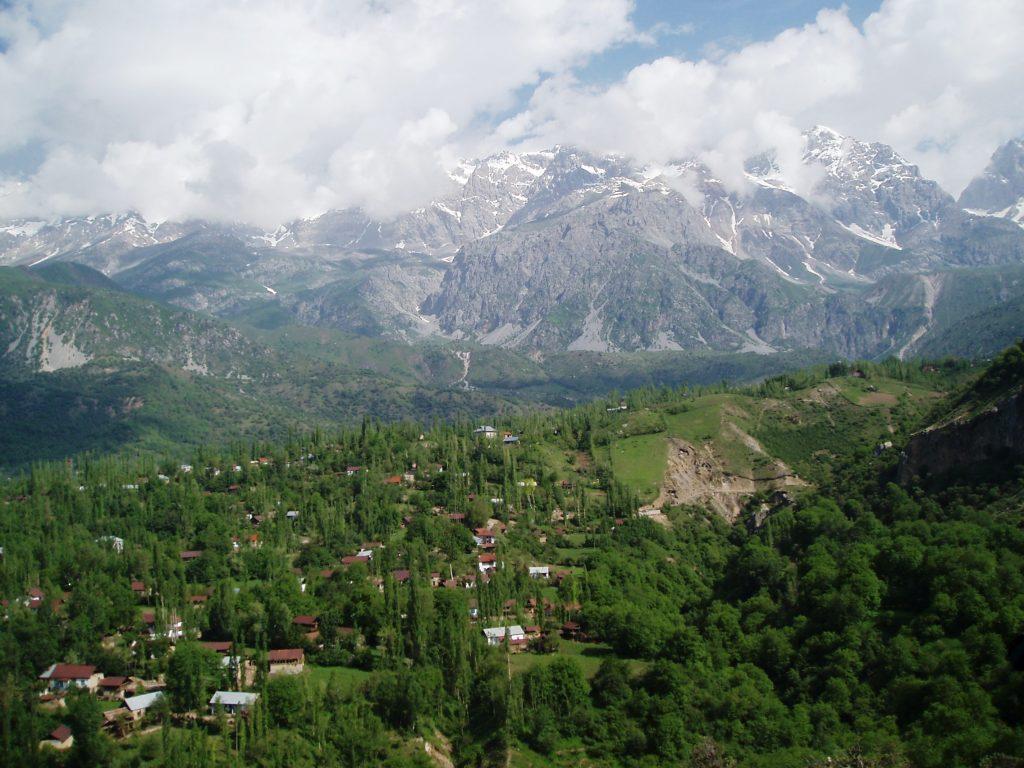 A mountain view of Arslanbob, Kyrgyzstan